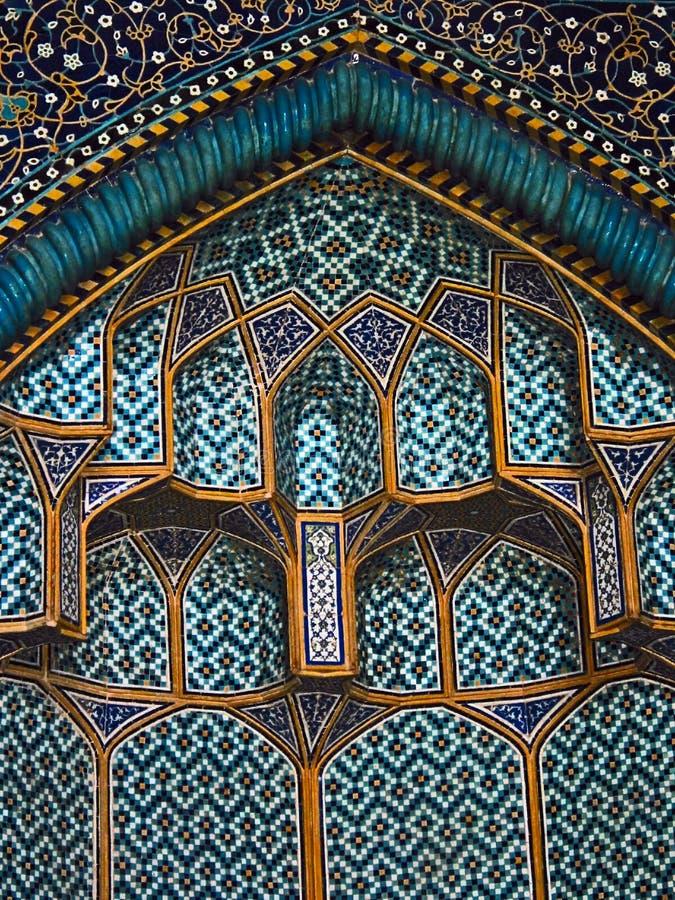 Detalle del interior de jeque Loft Allah Mosque foto de archivo libre de regalías