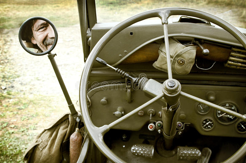 Detalle del jeep Willys fotos de archivo libres de regalías