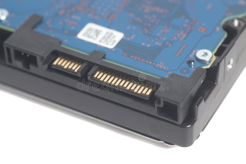 Detalle del mecanismo impulsor de disco duro imagenes de archivo