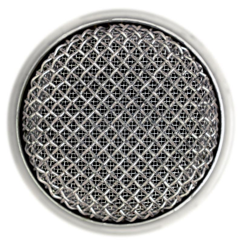 Detalle del micrófono   imagen de archivo