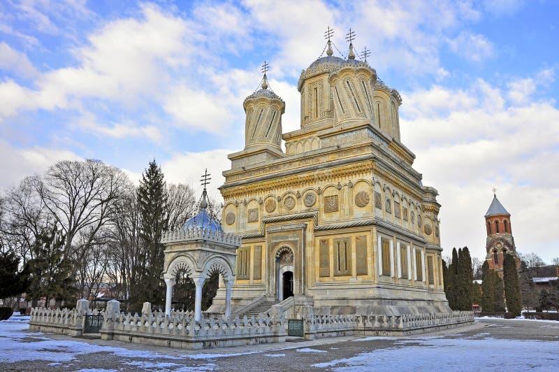 Detalle del monasterio de Curtea de arges fotos de archivo