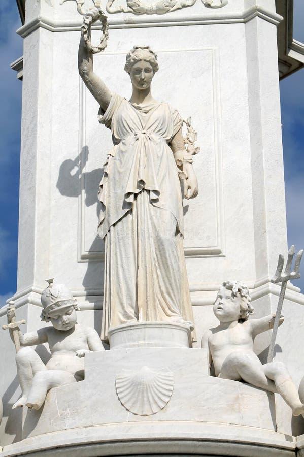 Detalle del monumento de la paz imagen de archivo