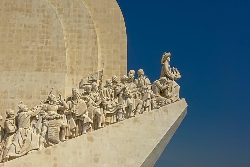 Detalle del monumento de los descubrimientos, Lisboa, Portugal fotografía de archivo
