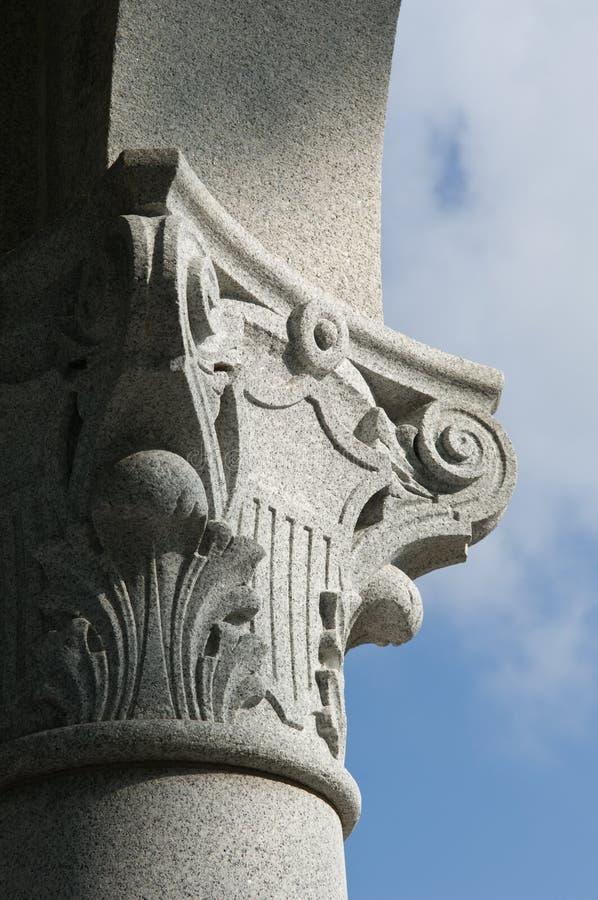 Detalle del monumento de Maryland imagen de archivo
