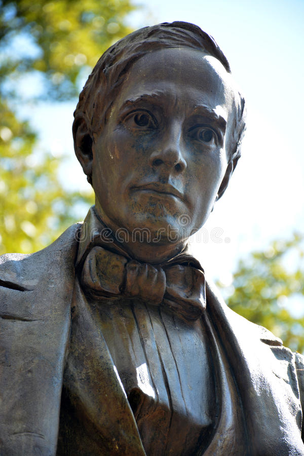 Detalle del monumento de Stephen Foster imagen de archivo
