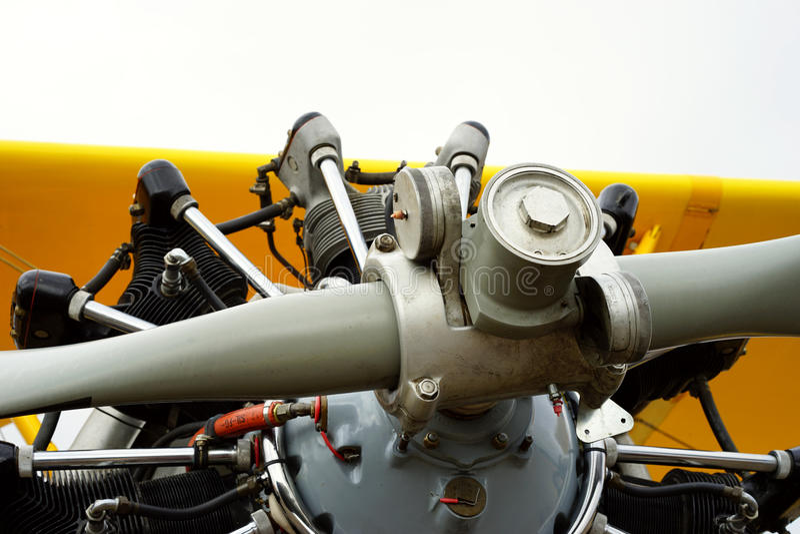 Detalle del motor de avión del entrenamiento del vintage imágenes de archivo libres de regalías
