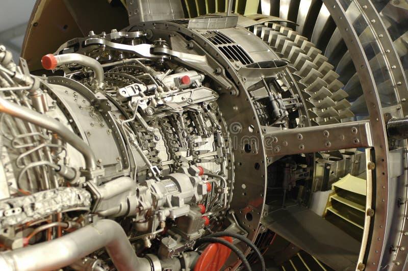 Detalle del motor de jet foto de archivo libre de regalías