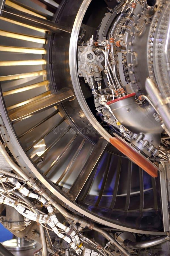 Detalle del motor de jet imagenes de archivo