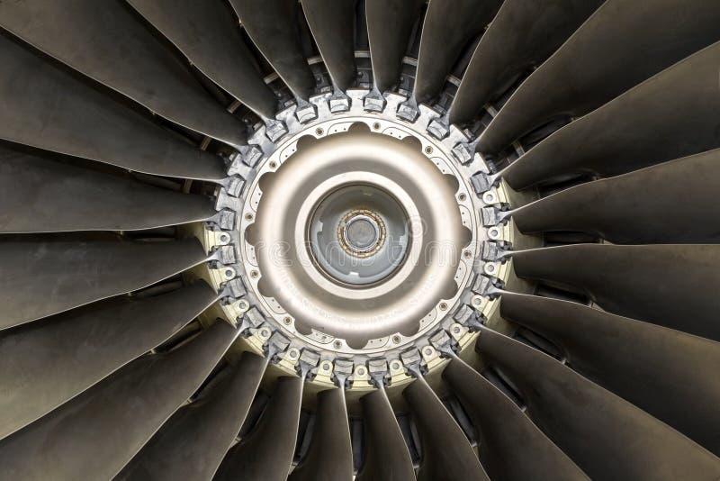 Detalle del motor de jet de los aviones imagen de archivo libre de regalías