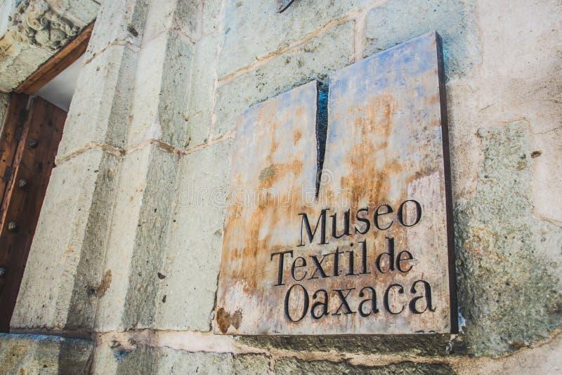 Detalle del museo de la materia textil de Oaxaca del textil de Museo de Oaxaca Mexic fotos de archivo libres de regalías