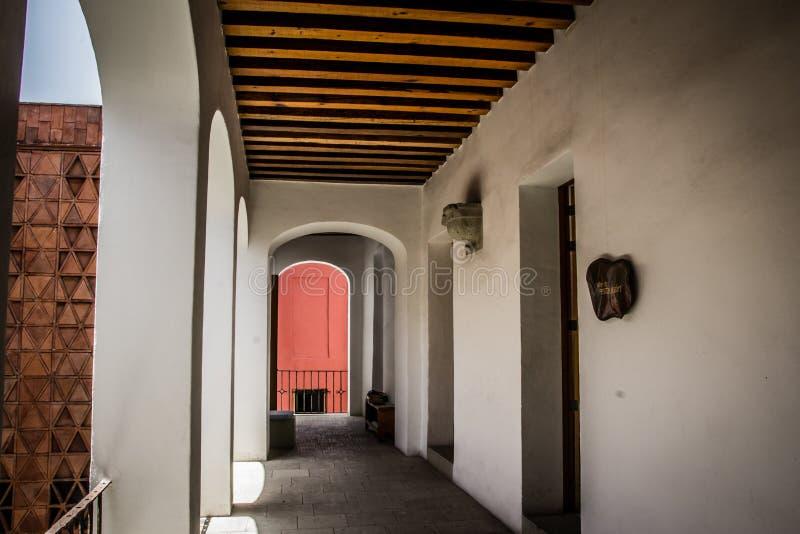 Detalle del museo de la materia textil de Oaxaca del textil de Museo de Oaxaca Mexic imagenes de archivo