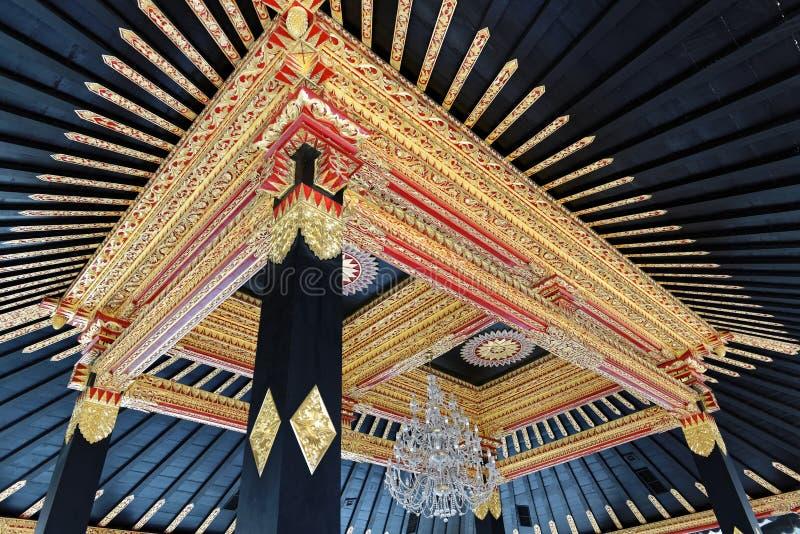 Detalle del ornamento en el Yogyakarta Sultan Palace imagenes de archivo