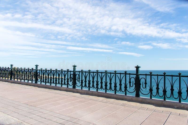 Detalle del paseo del balcón mediterráneo foto de archivo