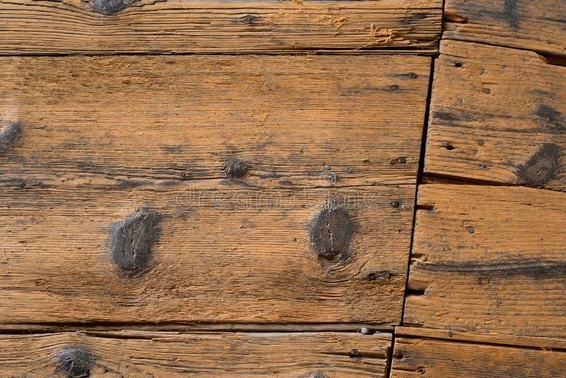 Detalle del piso de madera en casa de la tienda del salto en la ciudad de Zatec imagen de archivo libre de regalías