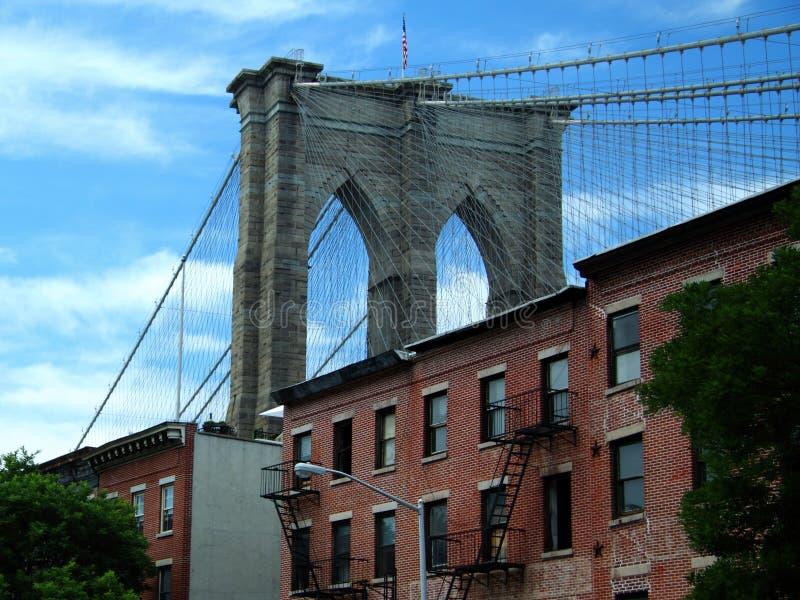 Detalle del puente de Brooklyn imagen de archivo
