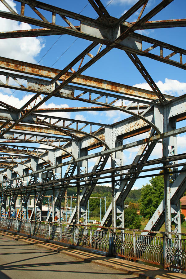 Detalle del puente del metal fotos de archivo
