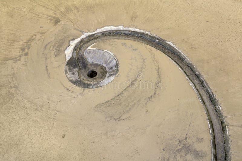 Detalle del tanque de sedimentación fotografía de archivo libre de regalías