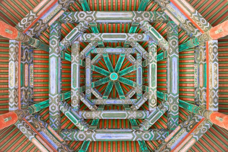 Detalle del techo de la compuerta flotante fotos de archivo