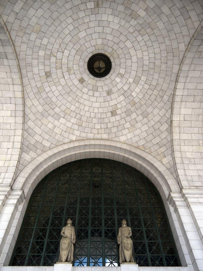 Detalle del techo de la estación de la unión, Washington DC foto de archivo
