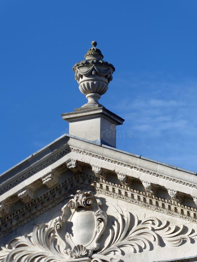Detalle del tejado de la casa del senado, Cambridge, Reino Unido fotos de archivo