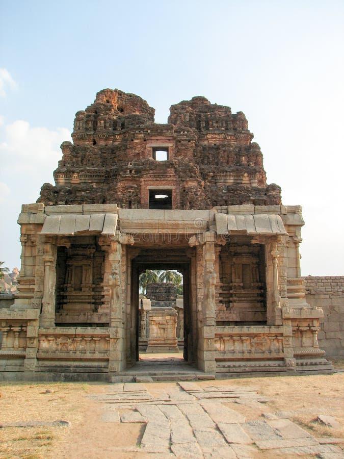 Detalle del templo de Krishna, Hampi imagen de archivo
