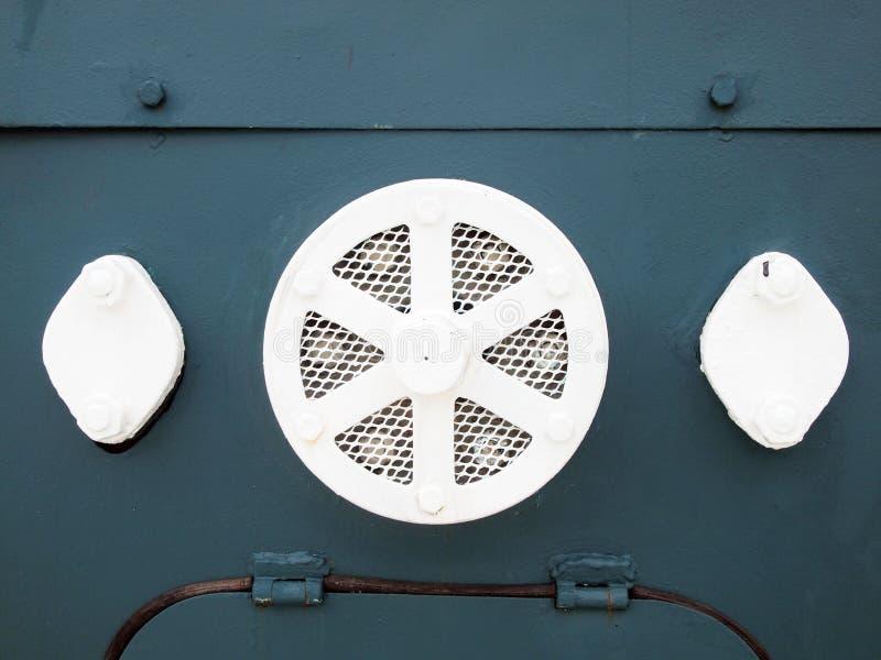Detalle del tren viejo del motor de vapor fotos de archivo