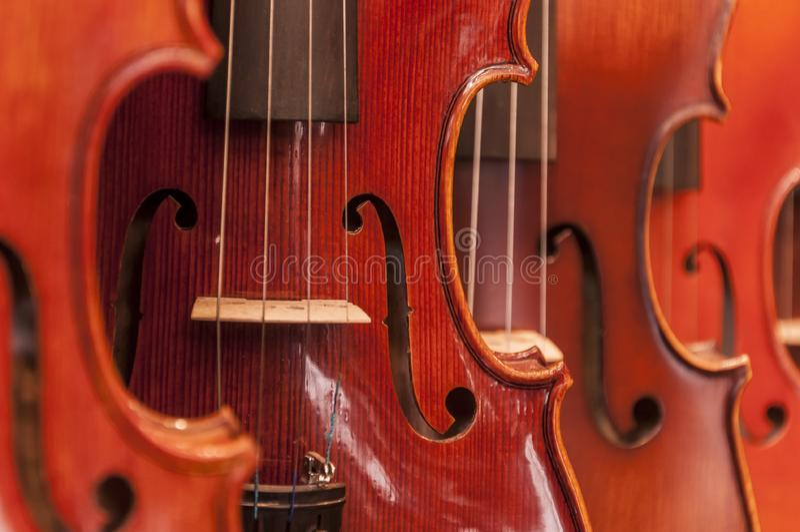 Detalle del violín fotografía de archivo libre de regalías