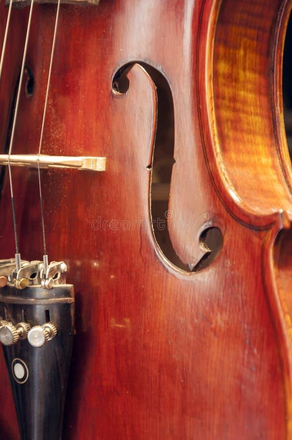 Detalle del violín foto de archivo