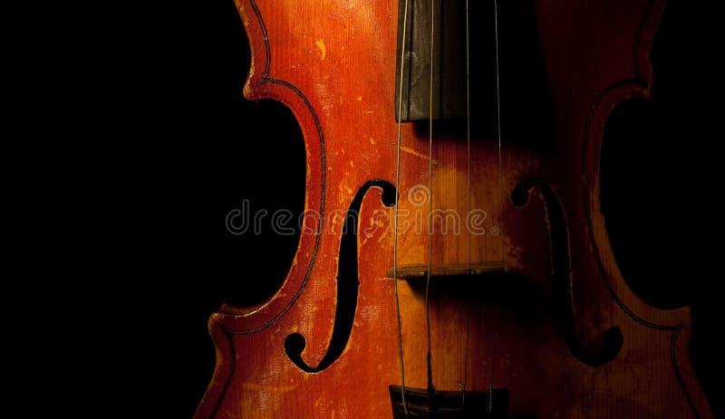 Detalle del violín de la vendimia foto de archivo libre de regalías