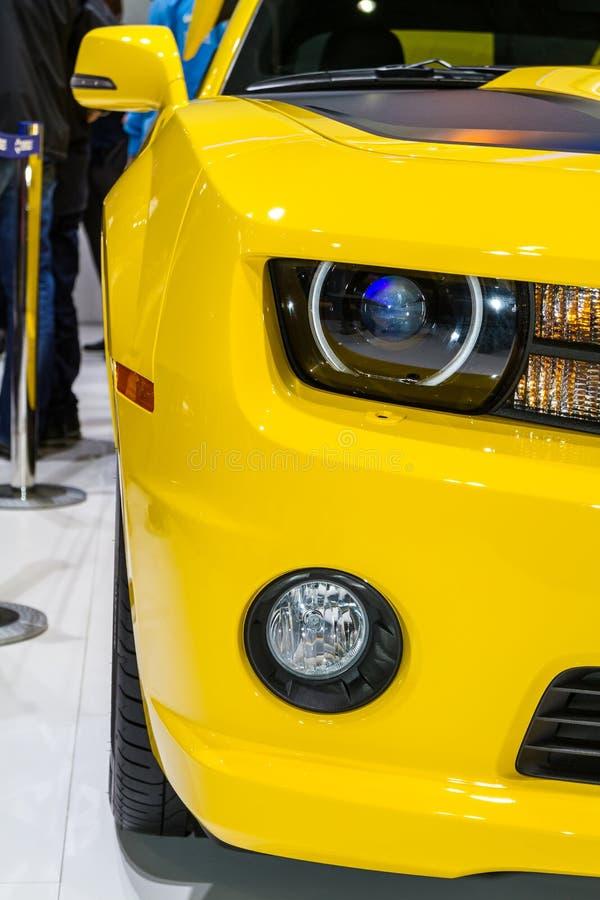 Detalle delantero de la linterna y del indicador en una Corbeta foto de archivo libre de regalías