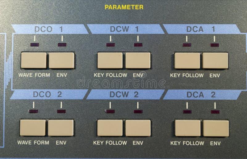 Detalle digital del sintetizador del vintage imagen de archivo libre de regalías