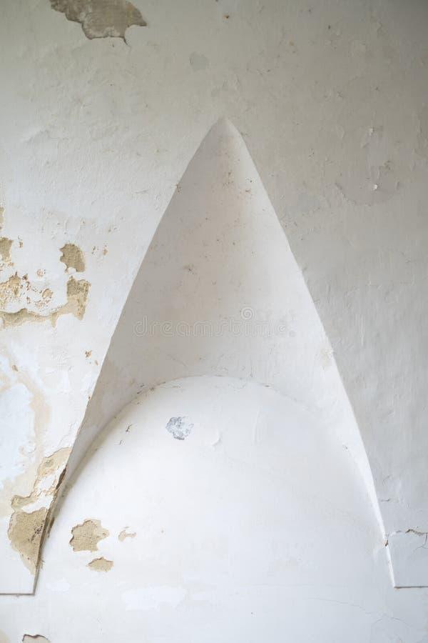 Detalle en el claustro en Certosa di San Giacomo, también conocido como el monasterio cartujo, en la isla de Capri, Italia imágenes de archivo libres de regalías