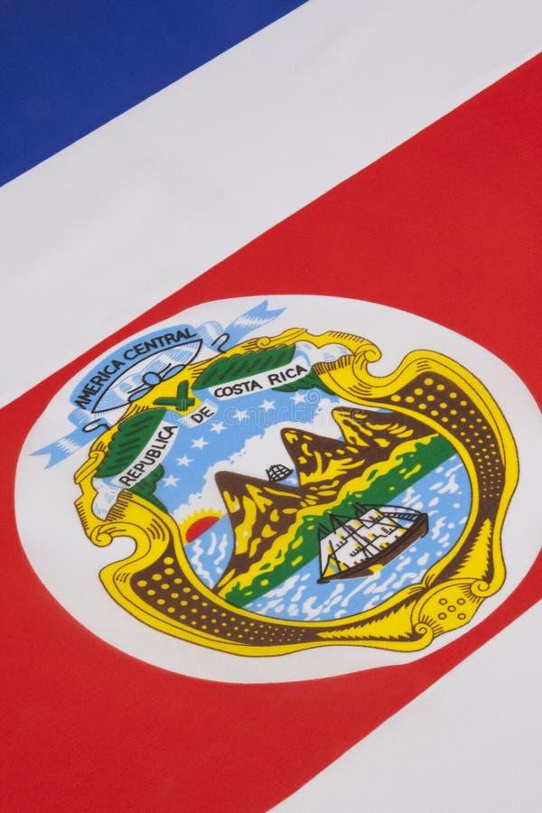 Detalle en la bandera nacional de Costa Rica fotos de archivo libres de regalías