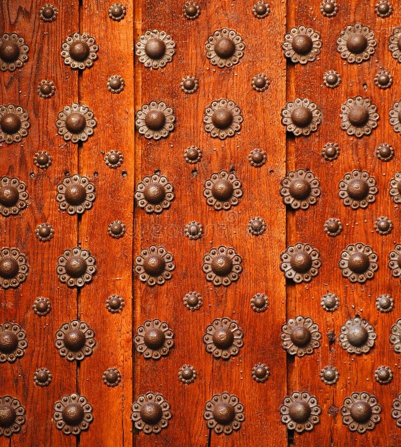 Detalle en puerta de madera fotografía de archivo
