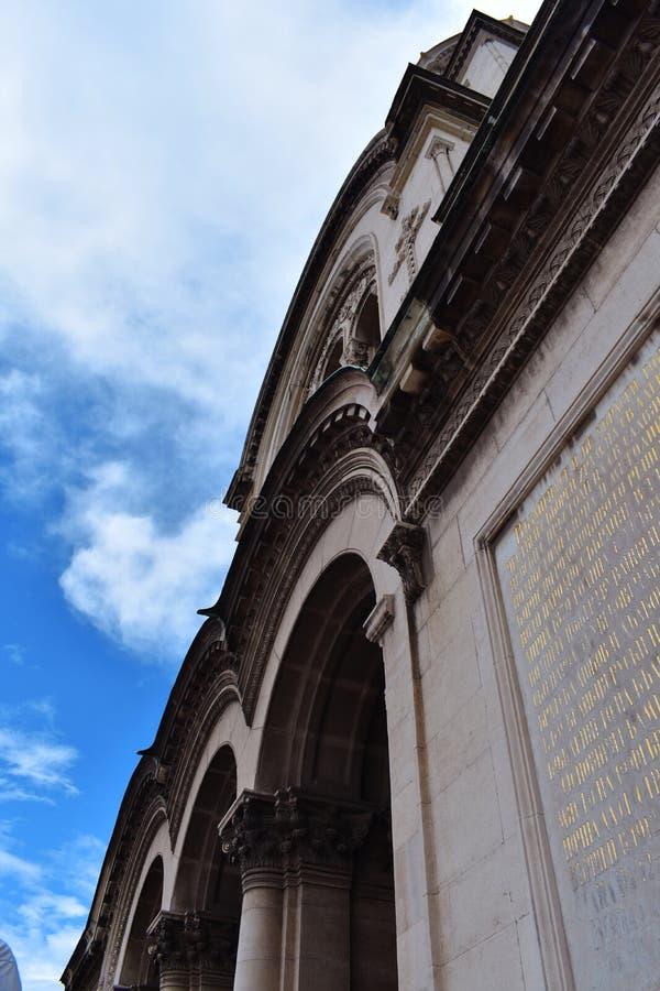 Detalle en St Alexander Nevsky Cathedral foto de archivo