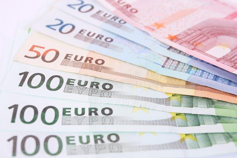 Detalle euro del dinero imagen de archivo libre de regalías