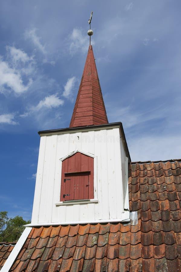Detalle exterior de la iglesia del bastón de Undredal, Undredal, Noruega imagen de archivo libre de regalías