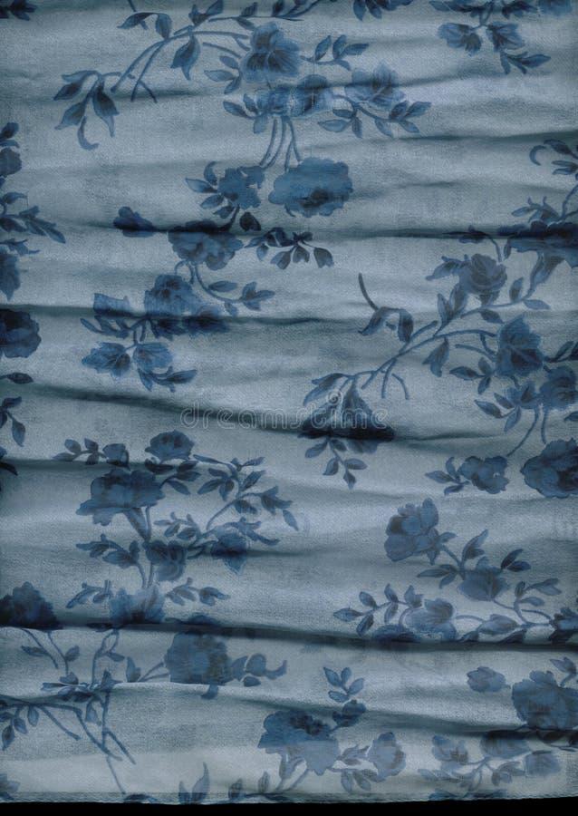 Detalle floral de la bufanda fotografía de archivo