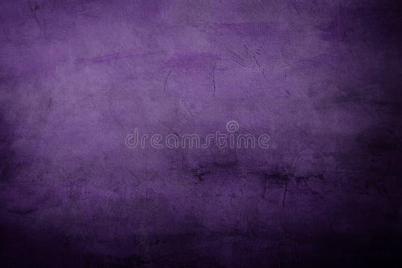 Detalle, fondo o textura púrpura del proyecto de la pintura de la lona fotografía de archivo