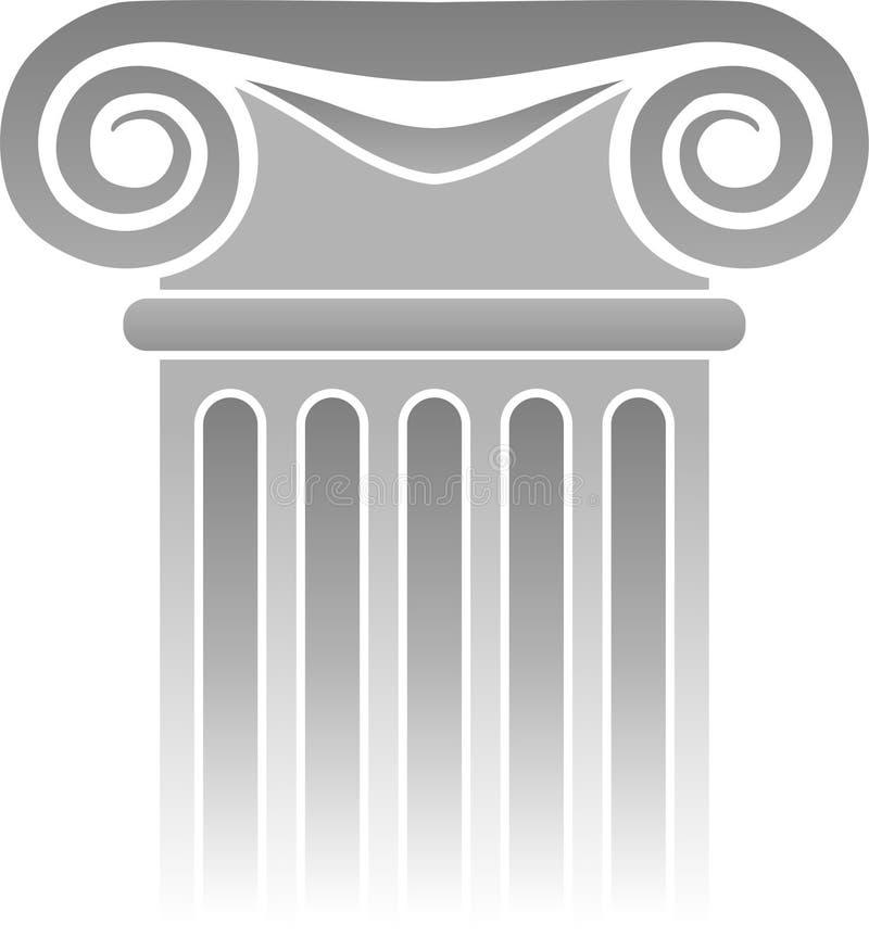 Detalle griego/EPS de la columna ilustración del vector