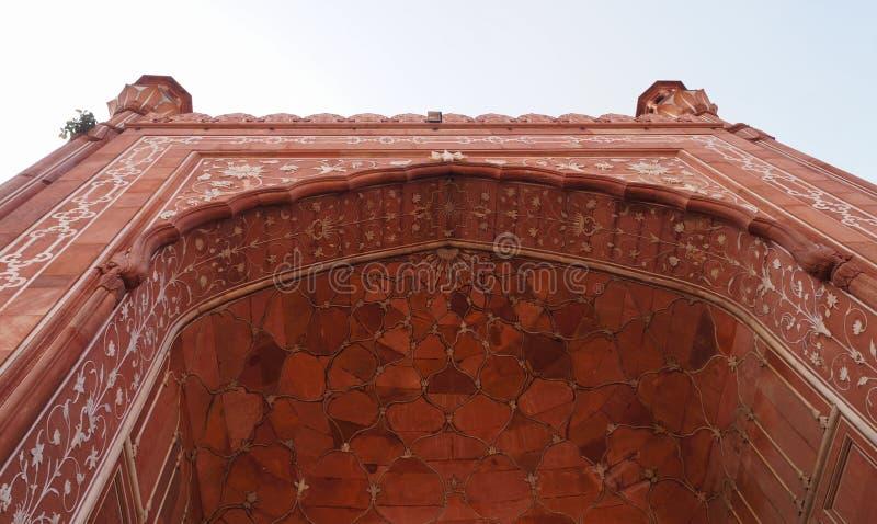 Detalle hermoso de la mezquita de Badshahi en Lahore, Paquistán imagenes de archivo