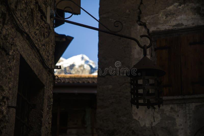 Detalle histórico medieval de Tenno fotos de archivo libres de regalías