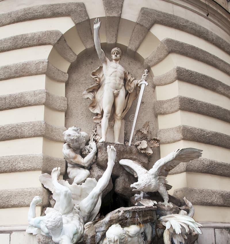 Detalle Hofburg, Viena foto de archivo
