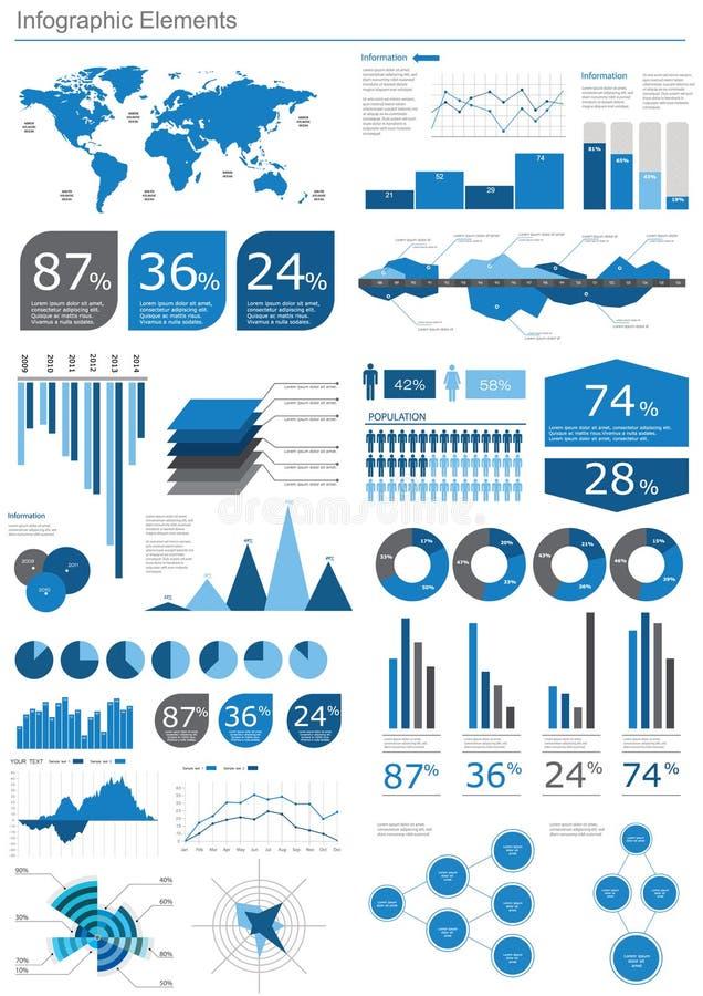 Detalle infographic stock de ilustración