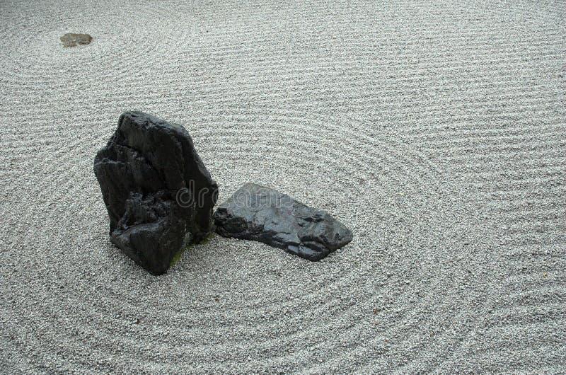 Detalle japonés del jardín de roca imagenes de archivo