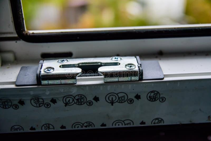 Detalle la foto del perfil moderno del PVC de la ventana fotos de archivo libres de regalías