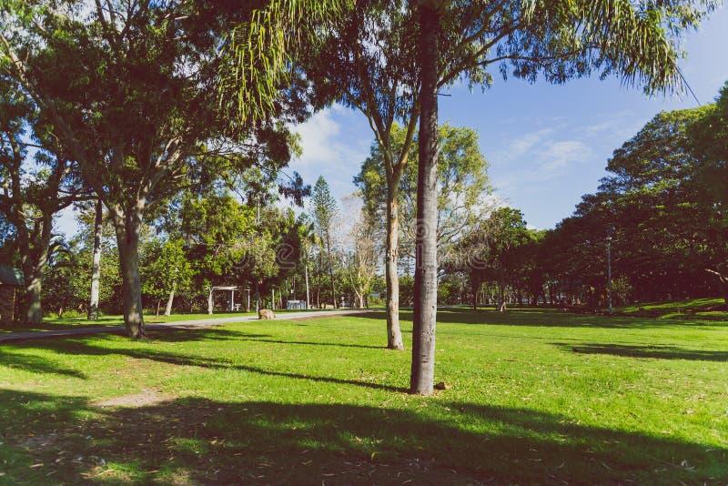 Detalle la vista del Les Rodgers Memorial Park en paraíso de las personas que practica surf imagen de archivo libre de regalías
