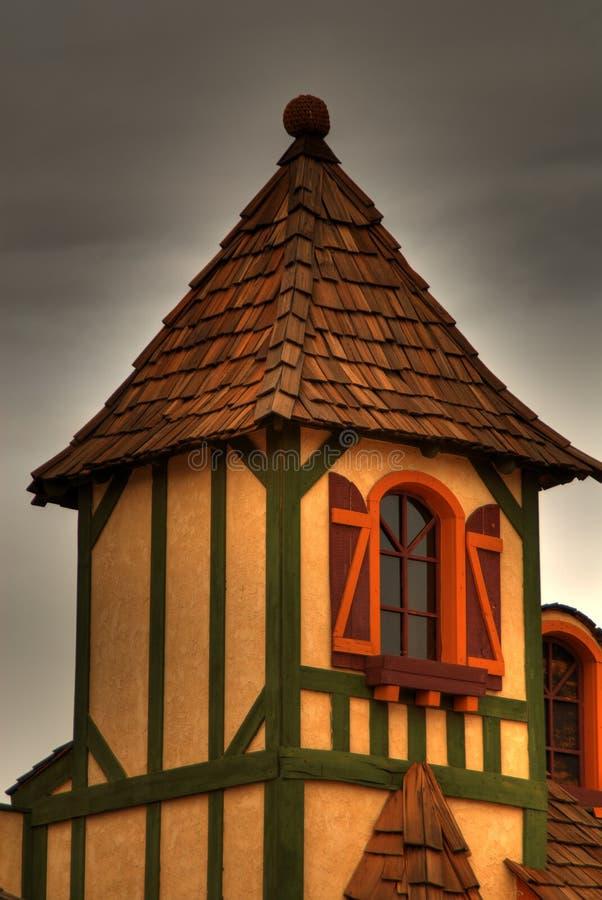 Detalle medieval de la casa fotos de archivo libres de regalías