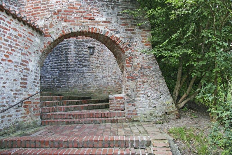 Detalle medieval del castillo imagen de archivo