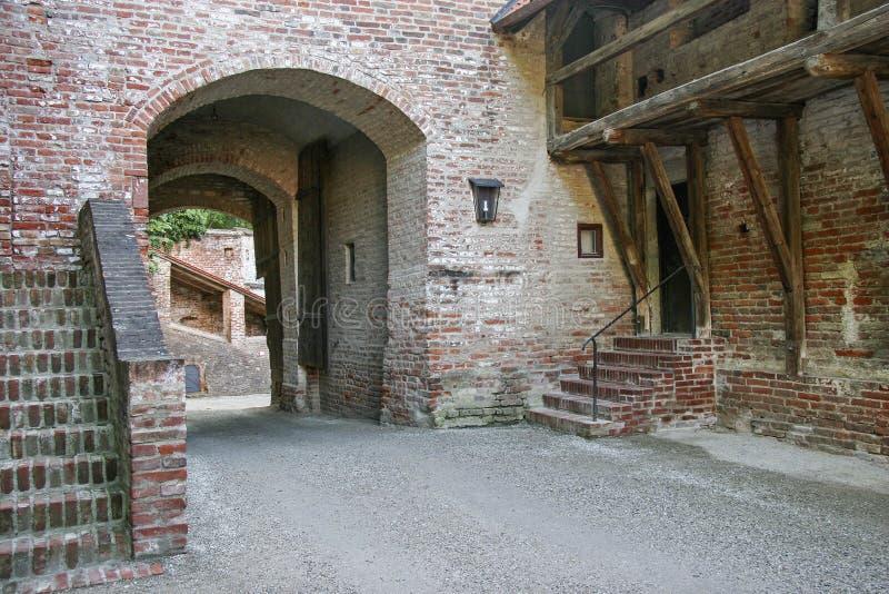 Detalle medieval del castillo fotografía de archivo